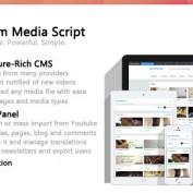 اسکریپت به اشتراک گذاری ویدئو Premium Media Script نسخه ۱٫۲٫۱