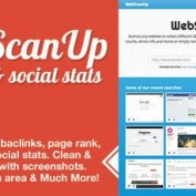 اسکریپت حرفه ای اسکن و آنالیز و SEO سایت WebScanUP