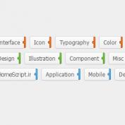 تگ های بسیار زیبا با CSS 3
