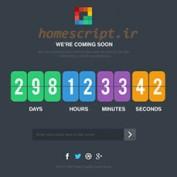 قالب صفحه در دست ساخت Pixp Countdown به صورت HTML